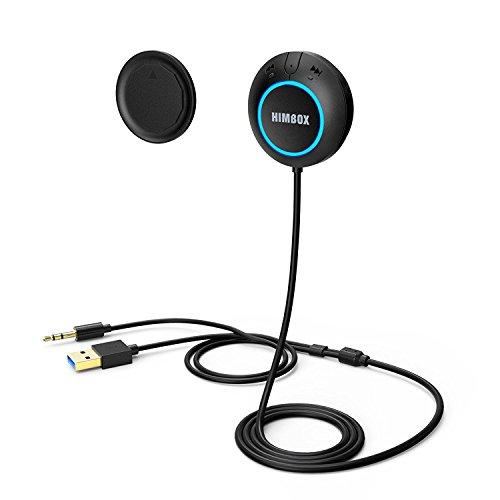 iClever Himbox HB01Min Kit Auto Senza l'uso delle Mani per Automobili con Supporto Magnetico Input Aux 3,5 mm, Accesso a più punti, Attivazione vocale / Siri (Colore nero)