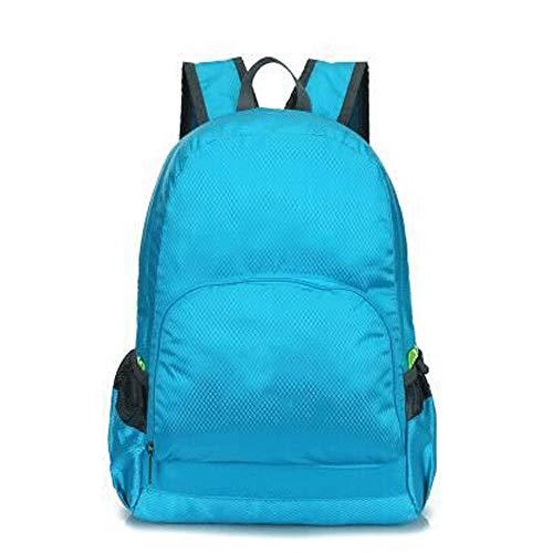 MYXMY Outdoor ultraleichten Rucksack Reisetasche Camping Tasche tragbare Falttasche wasserdichte Aufbewahrungstasche Haut Unisex (Color : C) -