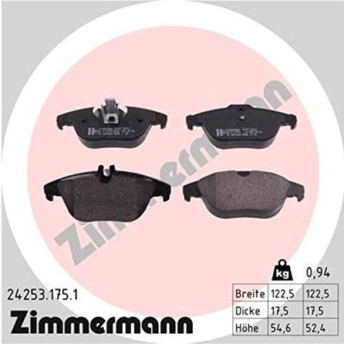 175 Serie (ZIMMERMANN 24253.175.1Serie Bremsbelagsatz, Hinten, inklusive Platte dämpfend)