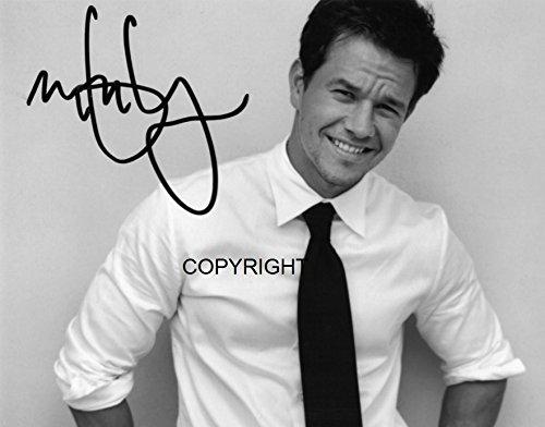Fotodruck von Mark Wahlberg, mit vorgedrucktem Autogramm, limitierte Edition