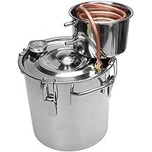TOPQSC 8 Galones 30L Tubo de Cobre Moonshine Still Spirits Kit Agua Destilador de Alcohol Cerveza