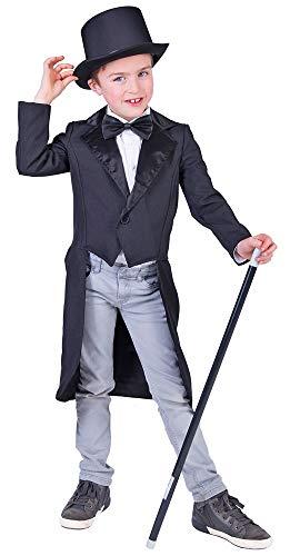Das Kostümland Schwarzer Kostüm Frack für Kinder - Gr. 116