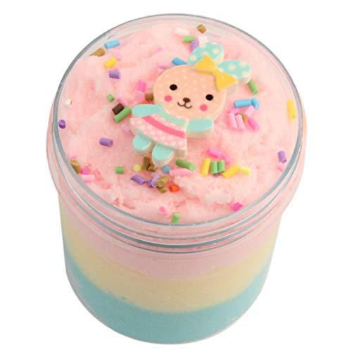 HuaMore Jumbo Blue Birthday Candy Cake Flauschiger Wolkenschlamm duftender therapeutischer Kitt
