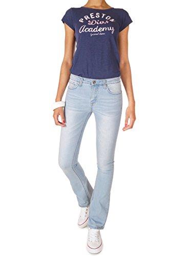 62nd Avenue Damen Bootcut Jeans Used Flared Hellblau 6217 Hellblau