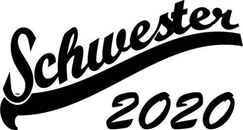 Mister Merchandise Herren Men V-Ausschnitt T-Shirt Schwester 2020 Tee Shirt Neck bedruckt Schwarz
