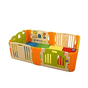 Baby Playpen Home Indoor Baby Playard Baby Fence For Toddlers Baby Playpen Kids Activity Centre Safety Play Yard Activity Center Safety Fence Indoor Outdoor (Color : Color1, Size : 200x120x65cm)   8
