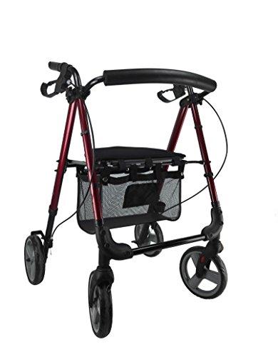 Neuheit | Premium Gehhilfe mit Bremse manuell Typ Fahrrad