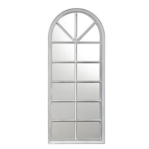 Dcasa - Espejo pared forma ventana blanco decorado
