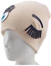 toyobuy mujeres Chic pestañas patrón algodón para tejer gorro Beanie Cap