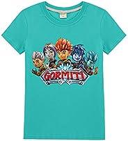 MOHKJMML Gormiti Camiseta Camiseta de los niños Tapas de la Camiseta Undershirt Camisa de Moda de la Manera Sa