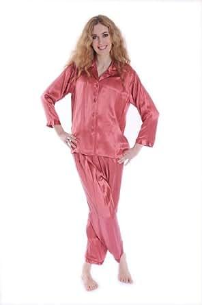 Biggoldapple - Pyjama Long en Soie du Style Traditionnel Chinois