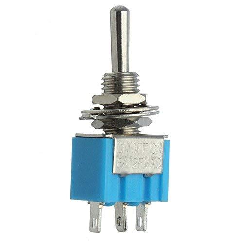 SUCAN 3 Pins SPDT Motors Kippschalter AC 125V 6A Wasserdicht Blau -