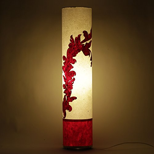 practicalities-handmade-paper-white-red-shade-bedroom-floor-lamp-home-night-light