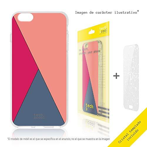 Funnytech Silikon Hülle für ZTE Blade V7 Lite [Flexibel Gel Hohe Resistenz Set Block Herz lila rosa