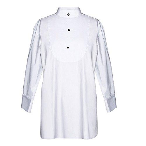 Erde Korb (Smoking-Schlaf-Shirt, Audrey Hepburn Frühstück bei Tiffany, Baumwolle, weiß (petite))