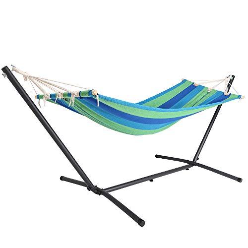 Detex amaca con supporto portata fino a 150 kg giardino spiaggia campeggio balcone terrazza verde