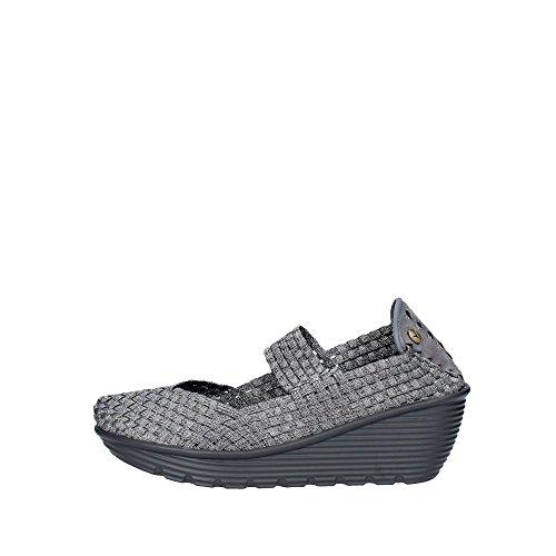Pregunta PCAKELLY-003 Sneakers Donna Elasticizzato Argento Argento 39