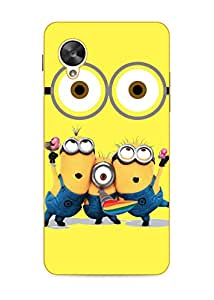 Happoz Google Nexus 5 Cases Back Cover Mobile Pouches Shell Hard Plastic Graphic Armour Premium Printed Designer Cartoon Girl 3D Funky Fancy Slim Graffiti Imported Cute Colurful Stylish Boys D111