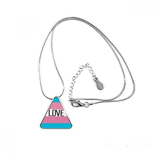 DIYthinker Love Transgender LGBT Unterstützung Triangle Form Anhänger Halskette Schmuck mit Kette Dekoration Geschenk - 48 Triangle Form