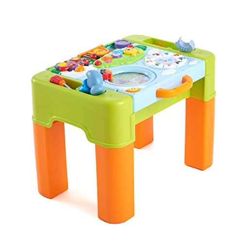 Huile Kids Play and Learning Activity Desk 6 in 1 Game Table Activity Center