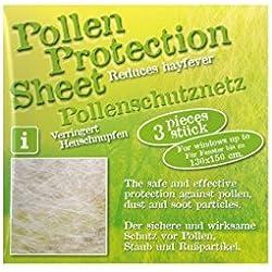 Pollenschutz-Vlies - Pollenschutzgitter - Schutz vor Pollen Staub Rußpartikeln - OHNE chemische Wirkstoffe!