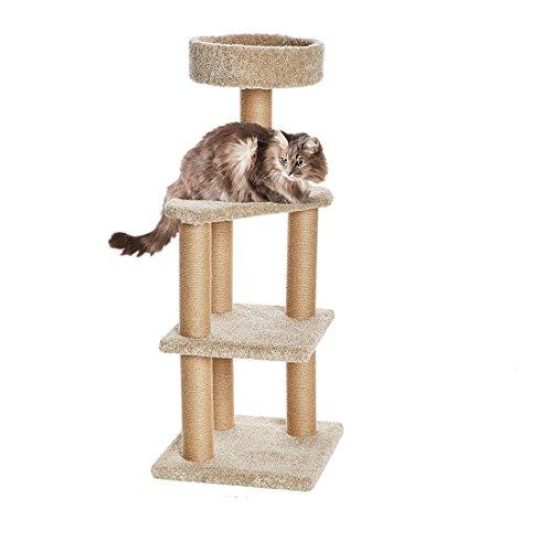 Cat Kitty Aktivität Baum-Apartment mit Kratzstämme Rund Top Plattform House Spielplatz, Kätzchen Aktivität Tower Größe M/L