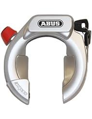 Abus Amparo 4850 LH KR Fahrradschloß Rahmenschloß Level 9 Stahlkabel weiß schwarz silber