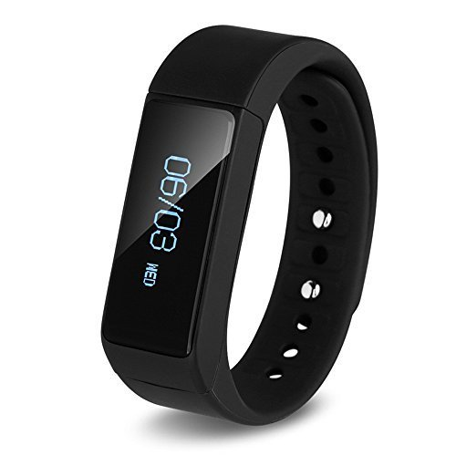 I5 Plus Smart Bracelet Bluetooth 4.0 Waterproof Touch Screen Fitness Tracker Health Sport Wristband Sleep Monitor TPU Material (Black) Product ID: 889284887855