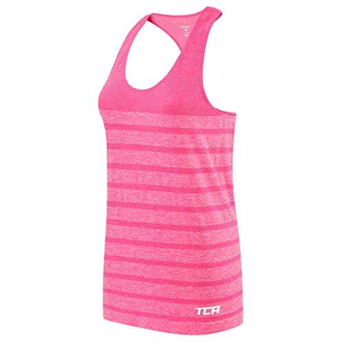 TCA Damen Funktions-Top QuickDry SuperKnit - für Training & Laufsport - Liquid Pink - Small (Top Training)