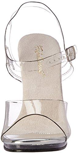 Fabulicious Damen Chic-08 Offene Sandalen Transparent (Clr/Clr)