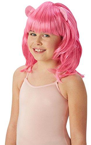 Rubie's offizielles mein kleines Pony Pinkie-Torten-Perücke-Kindes Abendkleid-Zusätze (eine - Pinkie Pie Kinder Kostüm
