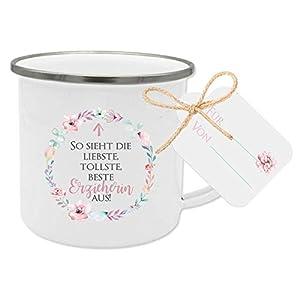 Geschenk für Erzieherin, Dankeschön Tasse mit Anhänger