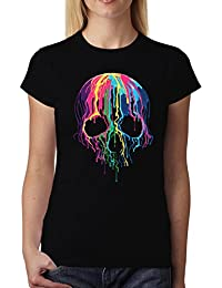 Fusione Teschio Horror Donna T-Shirt XS-2XL Nuovo