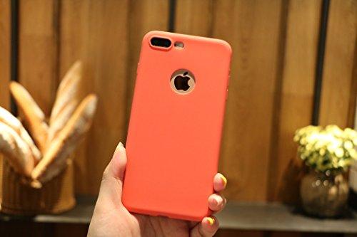 Per iPhone 7 Plus / iPhone 8 Plus Cover , YIGA Nero Silicone Morbido TPU Case Shell Caso Protezione Custodia per Apple iPhone 7 Plus / iPhone 8 Plus (5.5) red
