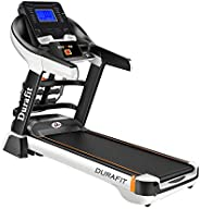 Durafit - Sturdy, Stable and Strong Focus Multifunction 3.5 HP (7.0 HP Peak) DC Motorized Treadmill with Auto