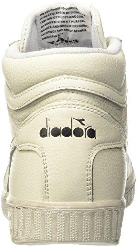 Diadora Game L High Waxed, Pompes à Plateforme Plate Mixte Adulte Blanc Cassé (Bianco)