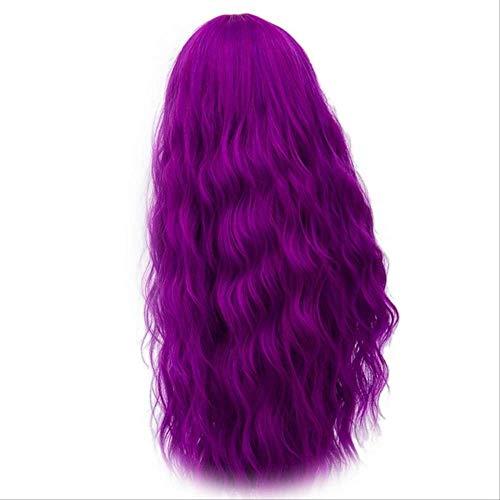 Kostüm Kind Perücke Ariel - XLWYNG hitzebeständige Perücke der Frauen haute densité température synthétique perruques ,pour les femmes noires Cosplay purple 28inches