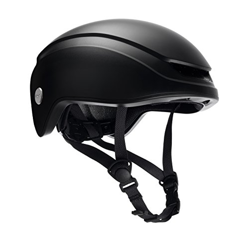 Brooks England Ltd Island Helmet Fahrradhelm, Total Black, Gr. M