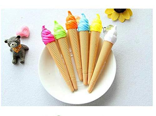 Niya Soft Kreative niedlichen EIS Form Farbe Gel Stift EIS EIS Kegel Farbe Stift Farbe Stil zufällig 30 Stücke
