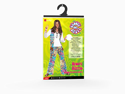Imagen de smiffy's  disfraz de hippie para hombre, talla l 38628l  alternativa
