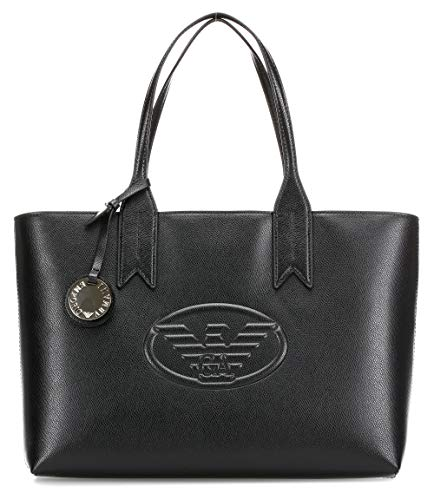 Emporio Armani Logo Shopping Damen Handtasche Schwarz