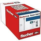 fischer 200 x spaanplaatschroef Power-Fast II 3,5 x 45, verzonken kop met binnenster TX gedeeltelijke schroefdraad galvanisch