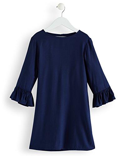 RED WAGON Mädchen Kleid mit Rüschen, Blau (Maritime Blue), 122 (Herstellergröße: 7 Jahre) (Mädchen Slips Für Kleider)