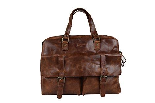 Zerimar Rucksack aus Leder beiläufige Art mit mehreren Taschen Maßnahmen: 34X40X12 Farbe tan (Leder Maßnahme)
