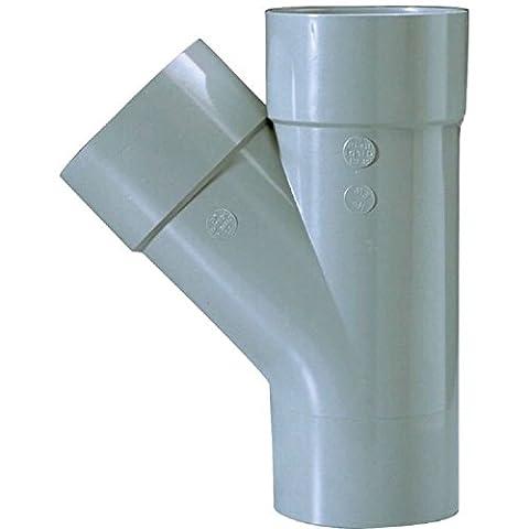Culotte PVC gris 45° Ø 125 mm Double emboîture Girpi