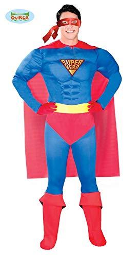 Super Hero Kostüm für Herren Karneval Fasching Superheld Reporter Umhang Gr. M-XL, - Superman Kostüm Blau