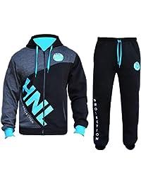 5221f96bcd7 Mens Tracksuit Set Hoodie Zip Up Top Bottom Sports HNL Jogging Suit Fleece  Jogger