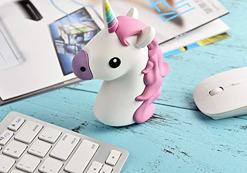 PRECORN Emoji Powerbank 2600mAh Ladegerät Einhorn Unicorn kompatibel mit iPhone Tablet Samsung UVM