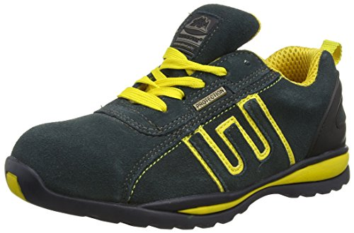 Groundwork GR86, Zapatillas de Seguridad Unisex, Azul (Navy/Yellow), 40 EU