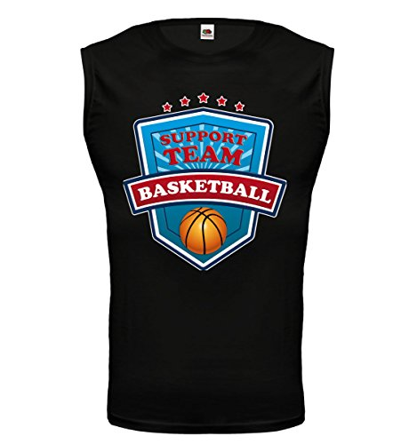 buXsbaum® Tank Top Basketball-Support Team Black-z-direct